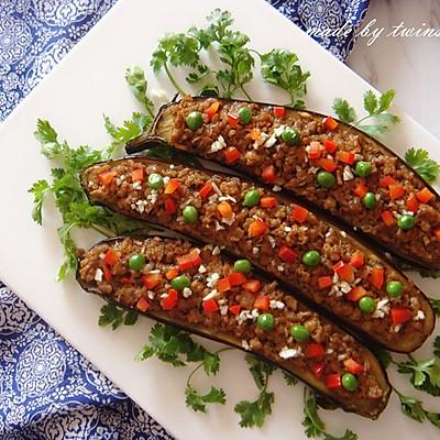 下饭菜|香菇肉末烤茄子