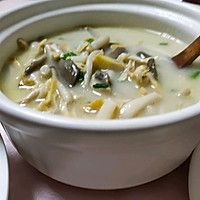 #助力高考营养餐#平菇、口蘑、海鲜菇、河蚌鲜美汤的做法图解8