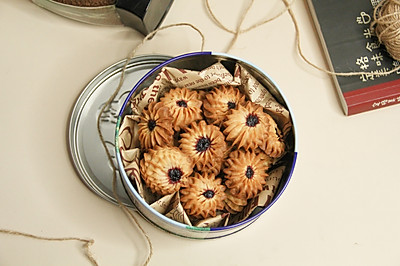 玉米油蓝莓酱曲奇