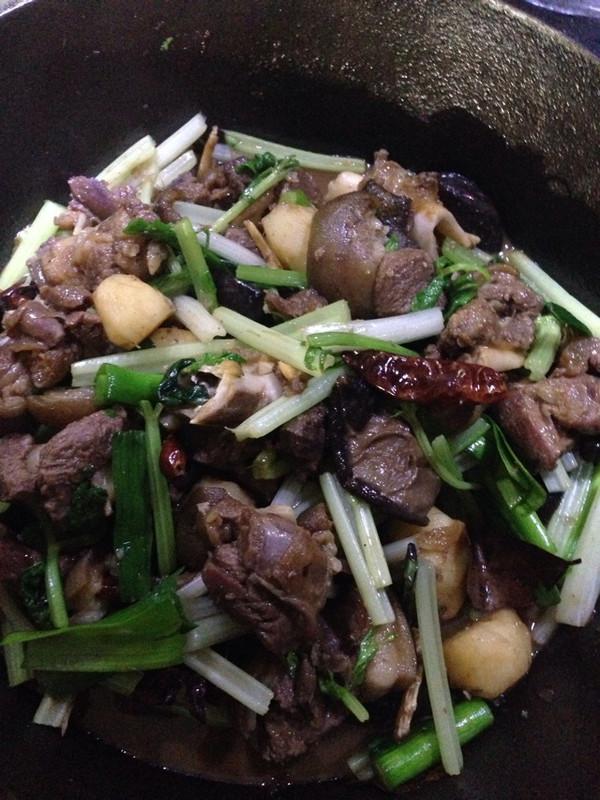 干锅羊肉的做法