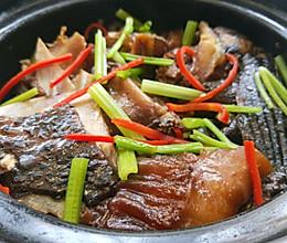 深海大石斑鱼头煲的做法