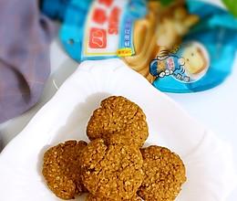 花生酱燕麦片饼干#挤出大趣味,及时享美味#的做法