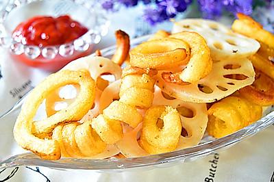 醋溜藕片薯圈