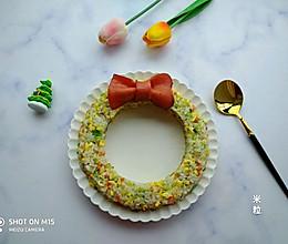 圣诞花环米饭的做法