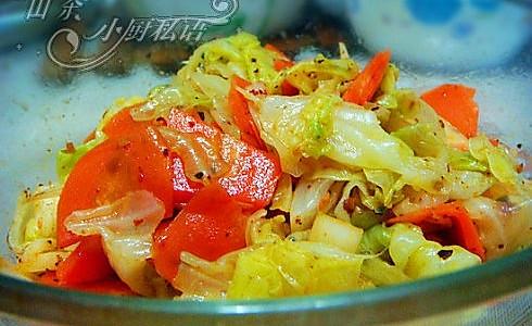 麻辣圆白菜的做法