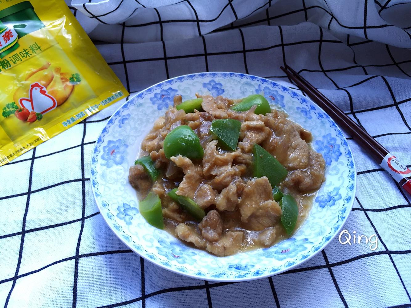 青椒烀肉 #鲜有赞,爱有伴#