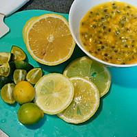 百香果金桔柠檬茶的做法图解2
