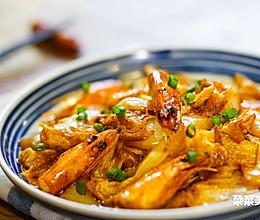 虾头烧白菜丨鲜美难挡的做法