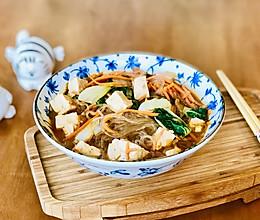 快手素味豆腐汤粉条#洗手作羹汤#的做法
