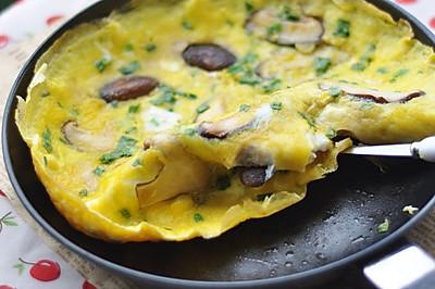香菇煎蛋——早餐