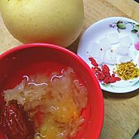 桂花木耳炖整梨的做法图解1