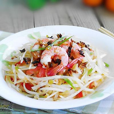 泰式青木瓜虾沙拉