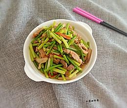 肉炒蒜苔#舌尖上的春宴#的做法