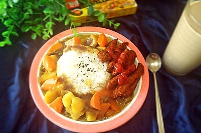 咖喱鸡柳饭