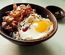 三文鱼蛋盖饭的做法