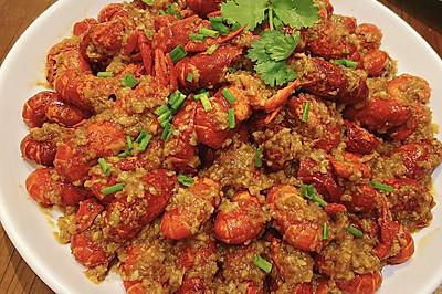 家庭版蒜蓉小龙虾美味不油腻,超好吃的教程来了