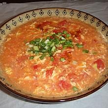 鸡蛋西红柿汤 有点意大利浓汤的意思哦