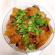 土豆片炖鸡腿