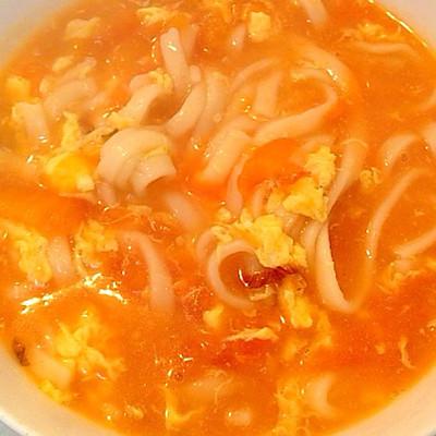 西紅柿雞蛋熱湯面