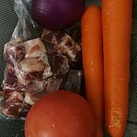 番茄胡萝卜炖牛腩的做法图解1