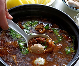 魔芋牛肉火锅的做法