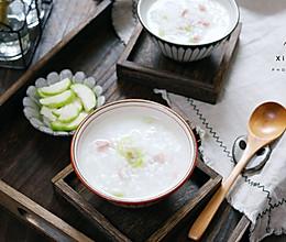 #秋天怎么吃#丝瓜香肠粥的做法