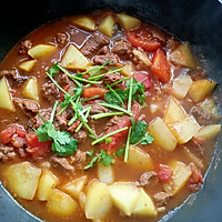 #牛气冲天#番茄土豆炖牛肉的做法图解12