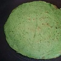 菠菜虾皮蛋饼(我的减肥餐)的做法图解5