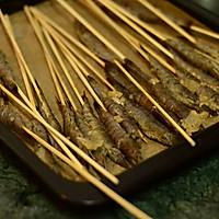 【孜然串烤虾】的做法图解5