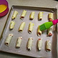 飞饼香肠卷的做法图解8