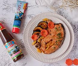 #李锦记旧庄蚝油鲜蚝鲜煮#百里香煎蚝油三文鱼排的做法