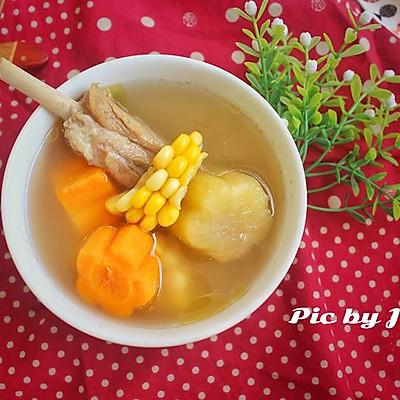 玉米红萝卜雪莲果汤