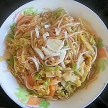 简单家常素菜-圆白菜炒粉条