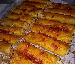 烤箱版豆皮卷金针菇的做法