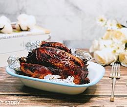 #一道菜表白豆果美食#简易版蜜糖烤全鸡的做法