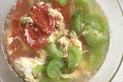 丝瓜番茄鸡蛋汤