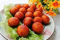 #合理膳食 营养健康进家庭#炸红薯丸子的做法