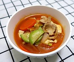 超简单轻食之韩式泡菜豆腐汤#做道懒人菜,轻松享假期#的做法