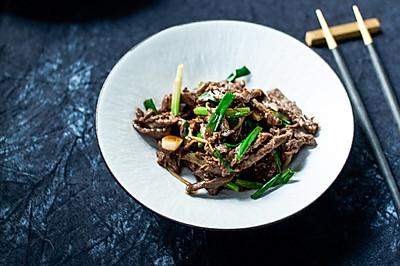 姜丝酱炒牛肉—有点杭州味味的肉丝