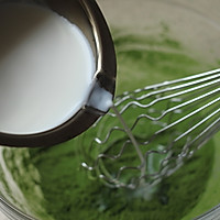 ~水玉抹茶夹心蛋糕卷~一抹清新绿的做法图解3