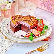 #憋在家里吃什么#紫薯芝士布朗尼小情人做给大情人的蛋糕