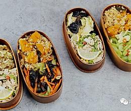 健康便当23(南瓜糙米饭+柠檬鸡丝+干锅包菜)的做法
