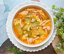 番茄菌菇西葫芦蛋花汤的做法