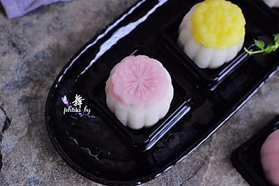 流沙奶黄冰皮月饼 #手作月饼#