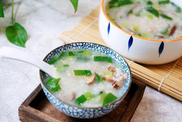 营养易消化的香菇肉沫蔬菜粥的做法