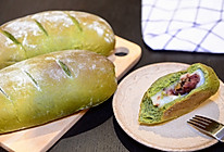 超软抹茶麻薯夹心软欧包(仿原麦山丘)的做法