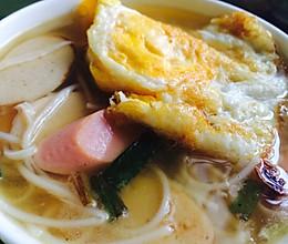 蛋肠汤面#急速早餐#的做法