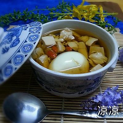妇女活血调经之一豆腐红糖鸡蛋汤