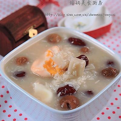 冬日里最温暖滋补的甜汤---酒酿年糕桂圆蛋