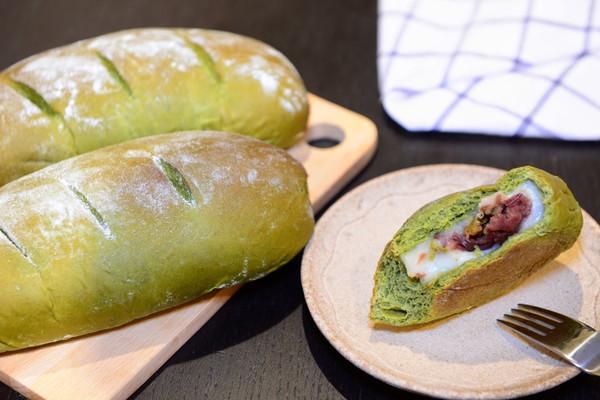 超软抹茶麻薯蜜豆软欧包(仿原麦山丘)的做法